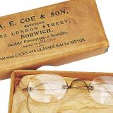A small pair of childs spectacles from the 1950's
